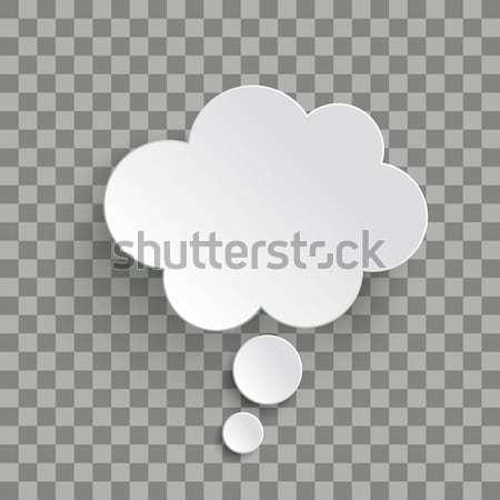 Branco balão de pensamento nuvem transparente projeto Foto stock © limbi007