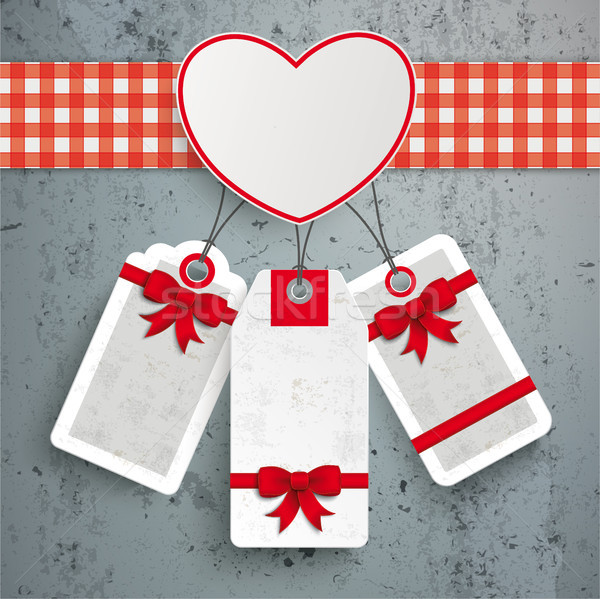 Heart TableCloth Price Stickers Concrete Stock photo © limbi007