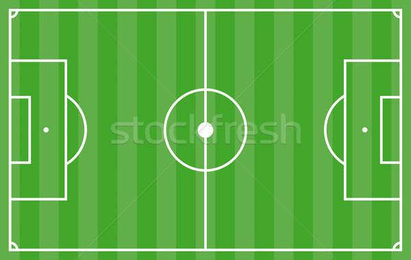 Voetbal tactiek groene gestreept grond dekken Stockfoto © limbi007