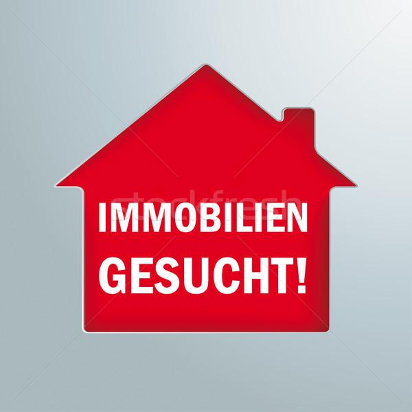 House Hole Immobilien Gesucht Stock photo © limbi007