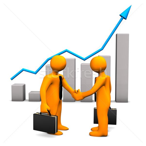 Handshake Chart Success Stock photo © limbi007