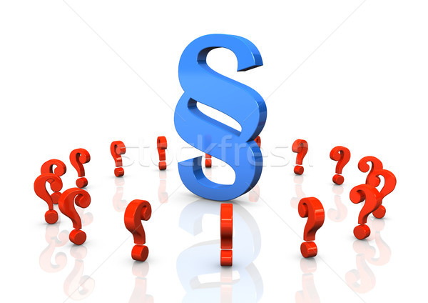 Paragraph Red Question Marks Stock photo © limbi007