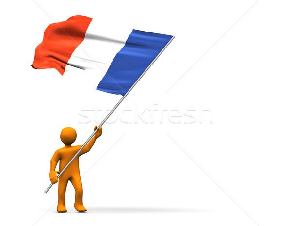 Fan of France Stock photo © limbi007
