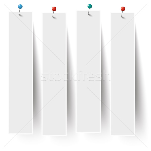 White Frame Banners Pins Stock photo © limbi007