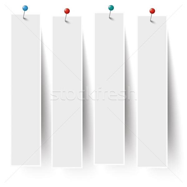 Biały ramki banery kolorowy eps 10 Zdjęcia stock © limbi007
