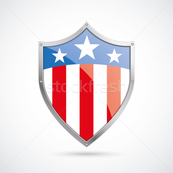US Flag Protection Shield Stock photo © limbi007