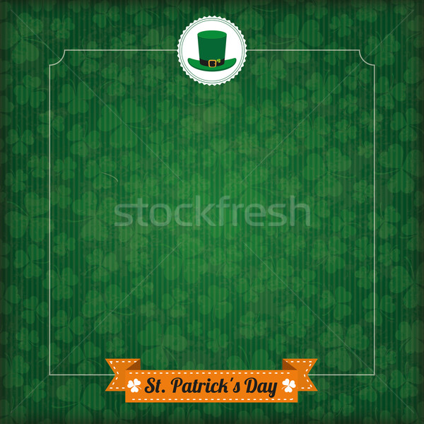 St. Patricks Day Vintage Cover Big Emblem Stock photo © limbi007