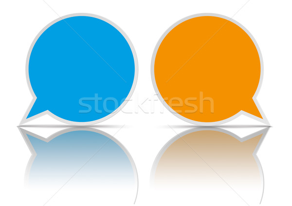 2 Round Speech Bubbles  Stock photo © limbi007