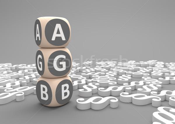 Paragraphs AGB Cubes Stock photo © limbi007