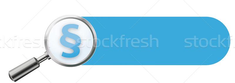 Bleu paragraphe bannière transparent blanche Photo stock © limbi007