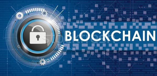 DLock Circuit Board Banner Data Blockchain Stock photo © limbi007