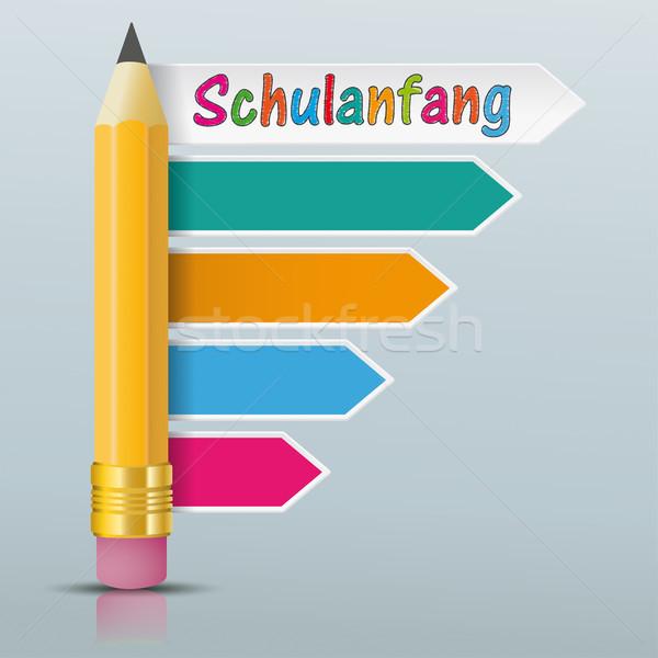 Ceruza színes nyilak irányok tükör szöveg Stock fotó © limbi007