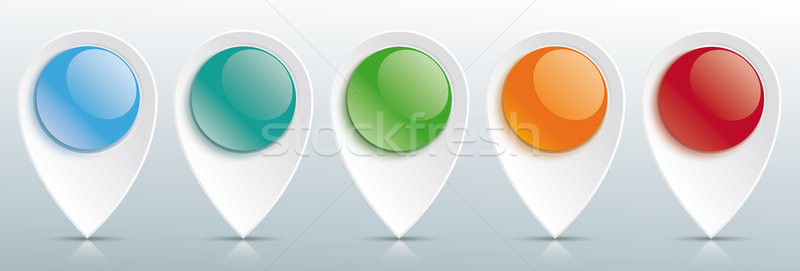 Pointer Colored Glossy Buttons Header Stock photo © limbi007