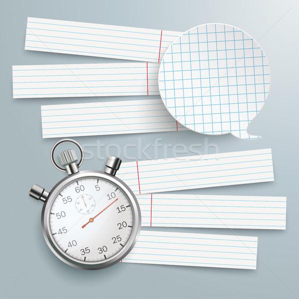 Documentos bocadillo cronógrafo papel gris Foto stock © limbi007