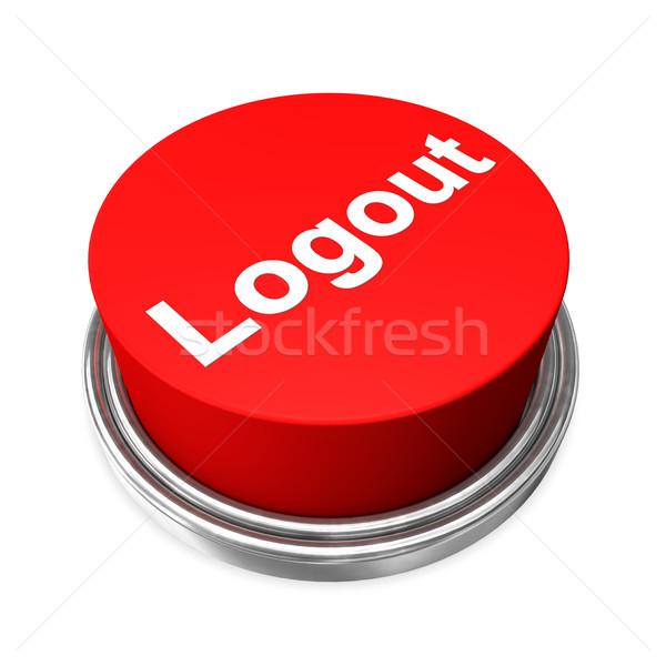 Kijelentkezés gomb piros fehér WWW vészhelyzet Stock fotó © limbi007