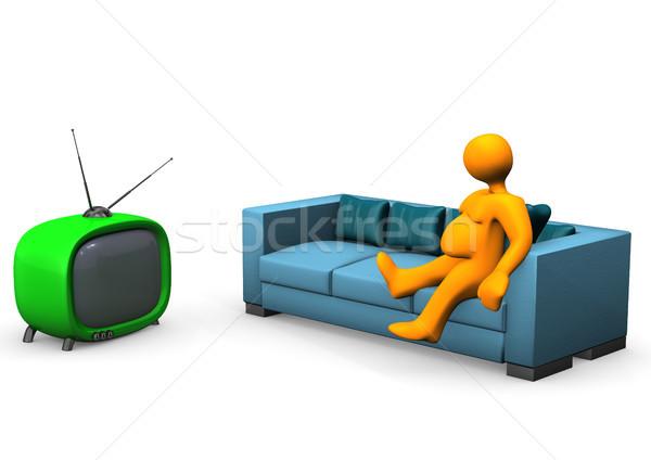 Watching TV Stock photo © limbi007
