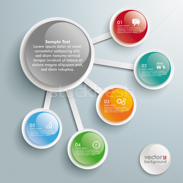 Infographic Big And 5 Small Buttons Stock photo © limbi007