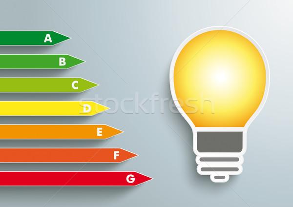Stock fotó: Villanykörte · energiahatékonyság · energia · passz · szürke · eps