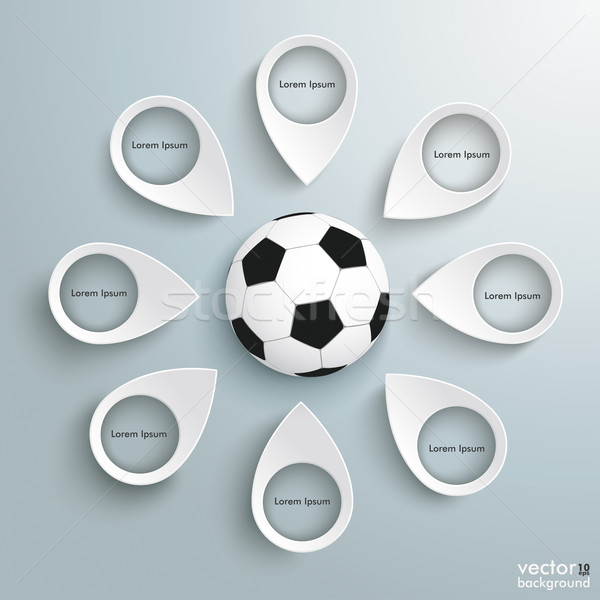 8 Location Markers Football Stock photo © limbi007