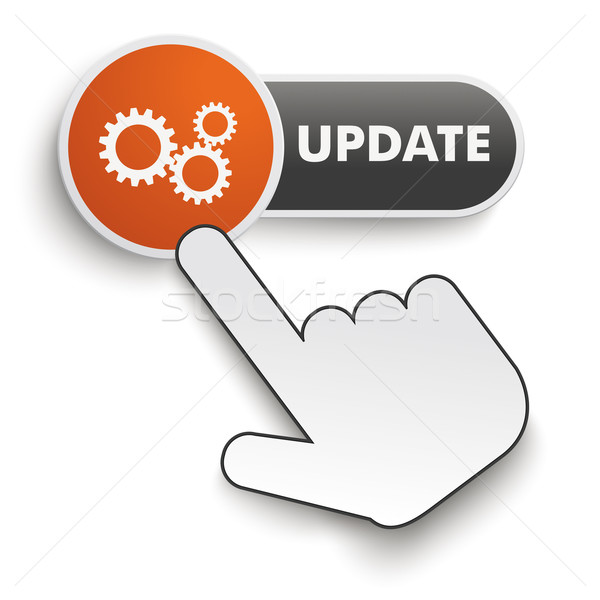 Update Button Hand Cursor Stock photo © limbi007