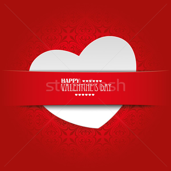 White Heart Convert Red Banner Ornaments Stock photo © limbi007