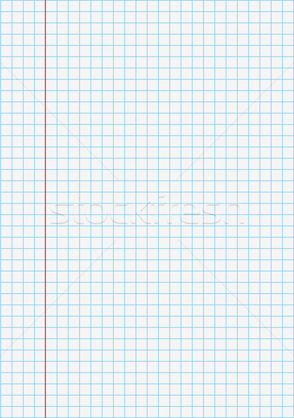 Notebook Checked Paper Stock photo © limbi007