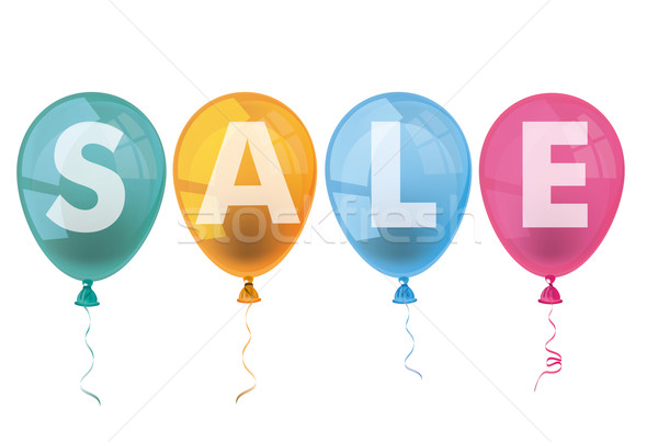 4 Colored Balloons Sale Stock photo © limbi007