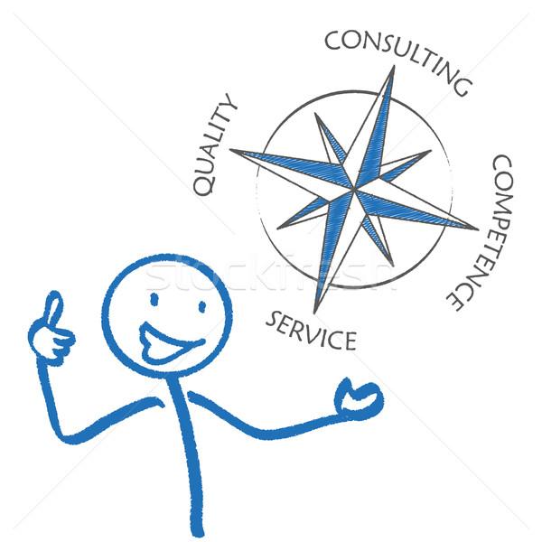 Consulting компас белый прибыль на акцию 10 вектора Сток-фото © limbi007
