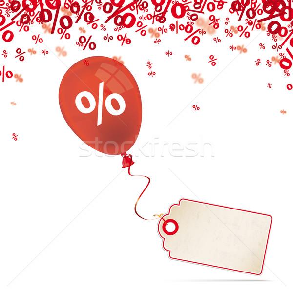 Red Percents Balloon Price Sticker Stock photo © limbi007