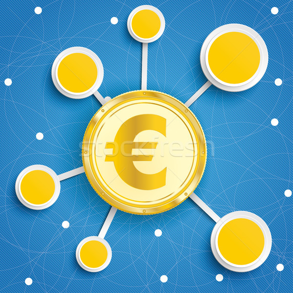 Infographic Internet Networks Circles Blue Sky Euro Stock photo © limbi007