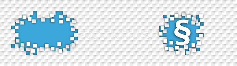 Checkered Paper Headline Hole Tiles Paragraph Stock photo © limbi007