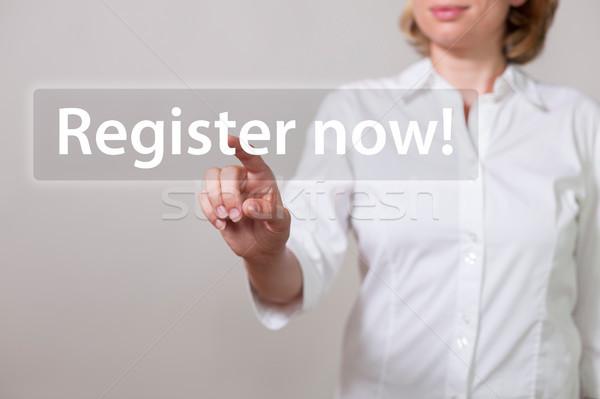 Woman Register Now Stock photo © limbi007