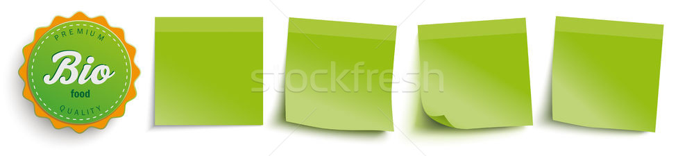 Yeşil biyo gıda etiket eps Stok fotoğraf © limbi007