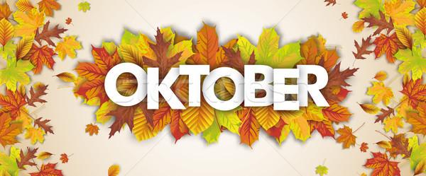 Autumn Foliage Fall Header Oktober Stock photo © limbi007