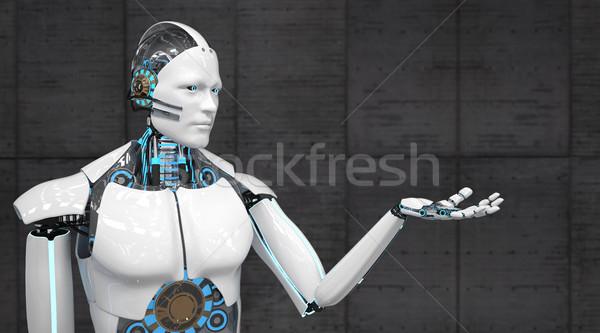 White Robot Stock photo © limbi007