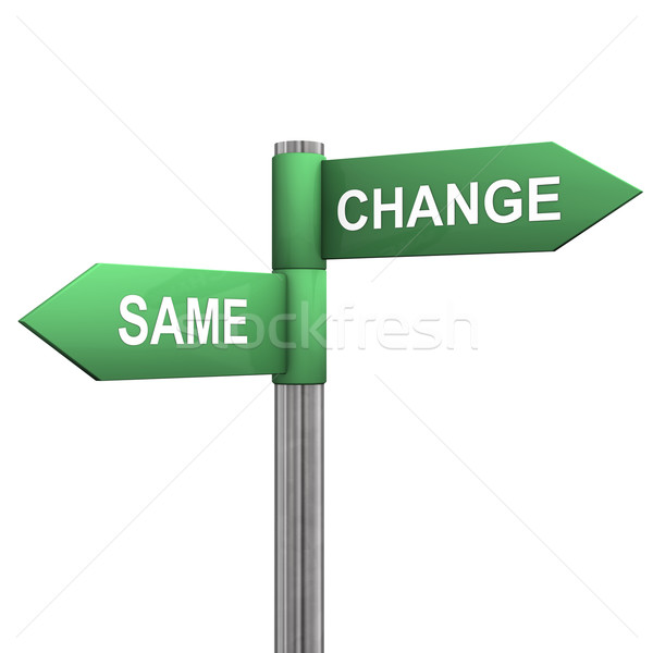 Same Change Directions Stock photo © limbi007