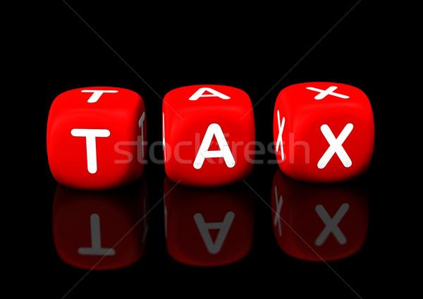 Vergi kırmızı metin siyah para Stok fotoğraf © limbi007