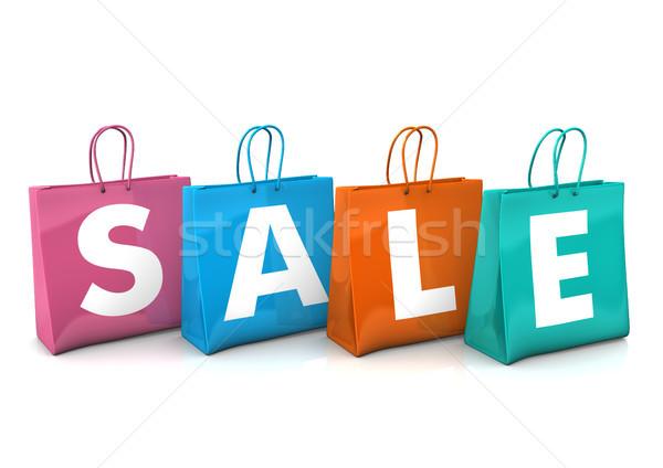Сток-фото: продажи · три · красочный · текста · белый