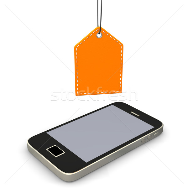 Smartphone Orange Shopmark Stock photo © limbi007
