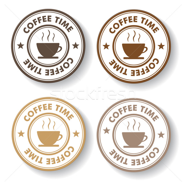 Coffee Time Stamp Labels Stock photo © limbi007