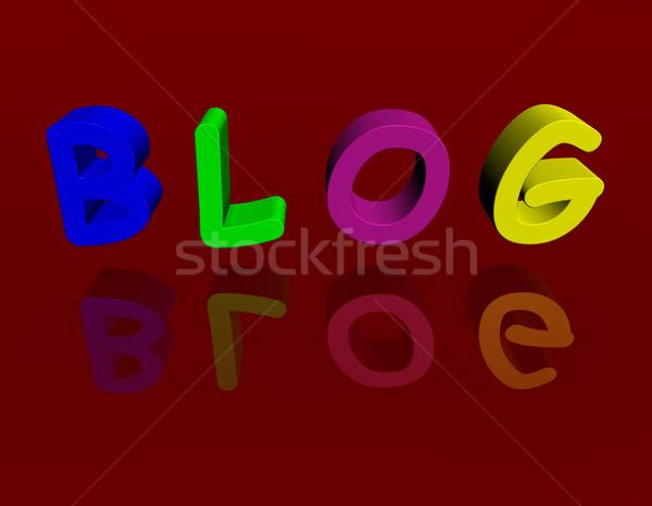 Blog muitos cores 3D negócio teia Foto stock © limbi007