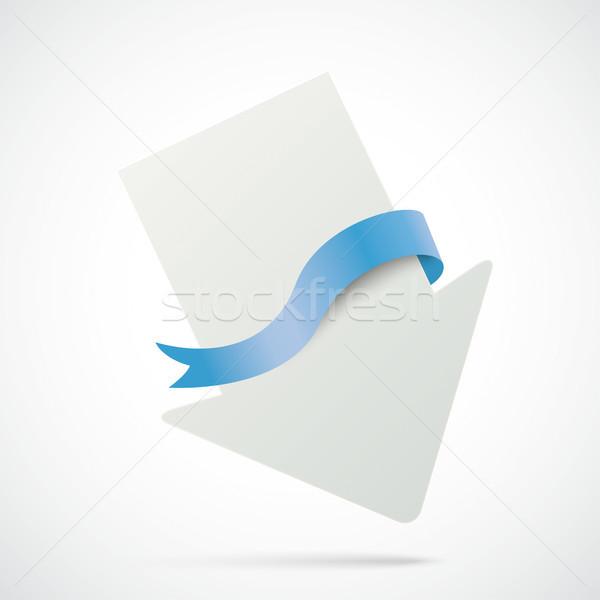White Arrow Blue Flag Stock photo © limbi007