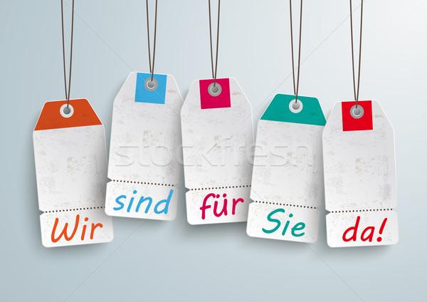 White Price Stickers Were Open Stock photo © limbi007