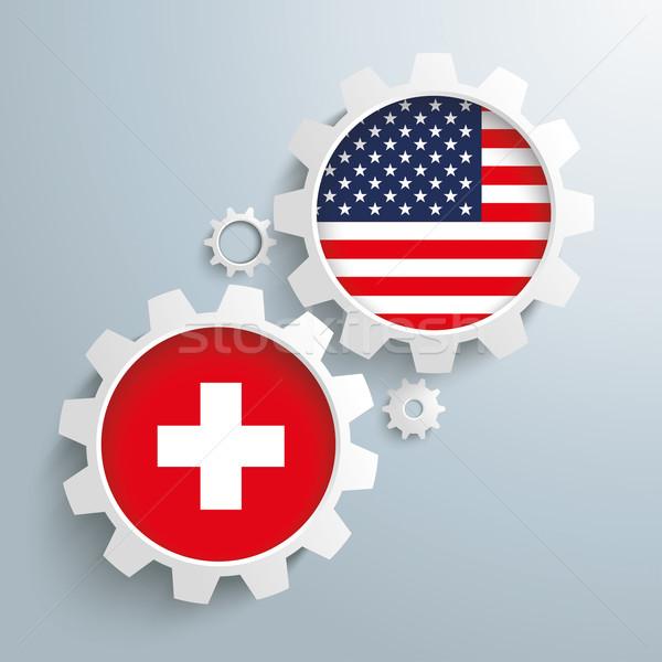 USA attrezzi bianco Svizzera eps Foto d'archivio © limbi007