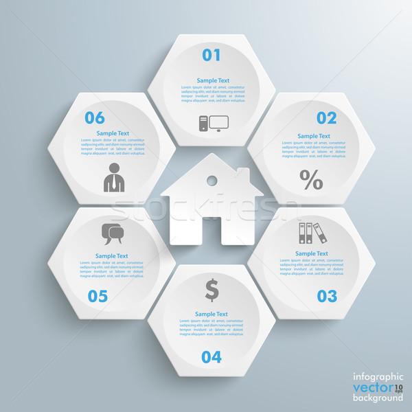商业照片: 白· 房子 · 信息图表 · 蜂窝 · 结构 · 灰色