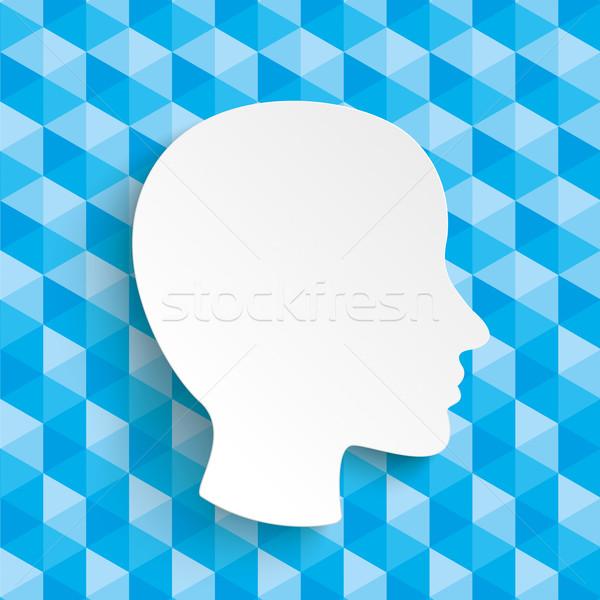 Low Poly Design Human Head Stock photo © limbi007