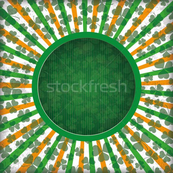 St Patricks Day Circle Hole Empty Background Stock photo © limbi007