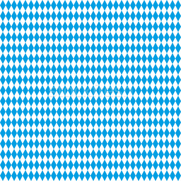 Seamless Rhombus Structure Bavarian National Colors Stock photo © limbi007