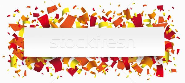 Carta banner caldo colori confetti bianco Foto d'archivio © limbi007