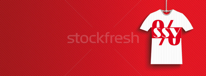 Hanging T-Shirt Price Stickers SSV Header Stock photo © limbi007